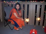 Having Fun on Diwali!
